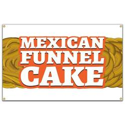 Mexican Funnel Cake Banner Concession Stand Food Truck Single Sided