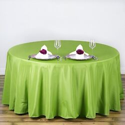 15 Apple Green 90 Round Polyester Tablecloths Catering Restaurant Supplies