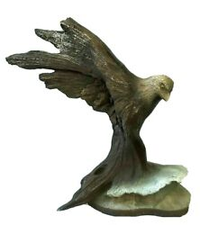 Rick Cain Limited Edition 1987 Resin Eagle Sculpture Sentinel Crest 166/5000