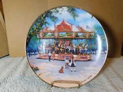 Wpthe Franklin Mint 'carousel Excitement' Plate By Sandi Lebron