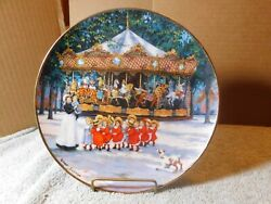 Hdwpthe Franklin Mint 'carousel Holiday' Plate By Sandi Lebron