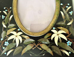 Sublime Antique Italy Pietra Dura Double Picture Frame Anniversary Wedding Gift