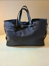 Authentic Gucci Black Calfskin Smooth Leather Satchel Tote Handbag $360.00