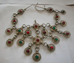 A Fine Silversmith Hand Made Heavey Morocco Silver Partly Old Coins Necklace