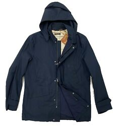 Loro Piana Cotton Navy Blue Montville Jacket Confort Size Large Made In Italy