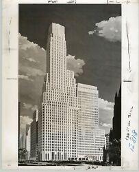 Irving Trust Company 1 Wall Street Downtown Nyc 1965 Architectural Rendering