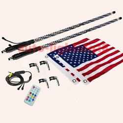 Dream Color Led Whip Antenna Light 360 Degree Wrapped Quick Disconnect For Atv