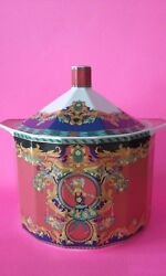 Versace Vintage 90 Collector Sun King Le Roi Soleil Gorgeous Large Tureen And Lid