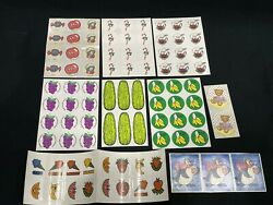 New Vintage Scratch N Sniff Stickers Lot 10 Sheets Pizza Gum Rootbeer Pickles ++
