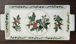 New Portmeirion Christmas The Holly And The Ivy Handled Serving Tray