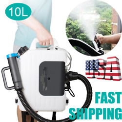 10l Electric Backpack Ulv Ultra Low Capacity Sprayer Fogging Machine Us Stock
