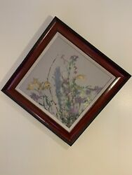 Ramandoacuten Santiago Andldquolittle Flowersandrdquo Painting On Stretched Canvas Signed And Dated