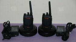 Lot Of 2 Motorola Mag One Bpr40 Uhf Portable Radios W/accessory- Great Condition
