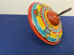 Vintage J. Chein Tin Lithograph With Children's Toys Toy Top A1-79