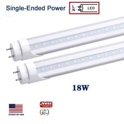 T8 18w 4ft 1200mm Led Fluorescent Tube Replacement Single Ended Shop Light Bulb