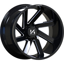 4 - 20x12 Black Milled Arkon Off-road Lincoln 8x180 -51 Directional Wheels