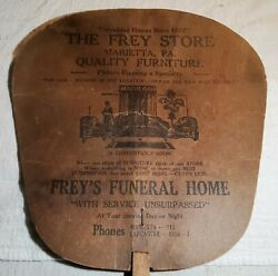 Antique Frey Store Marietta Pa Quality Furniture And Funeral Home Advertising Fan