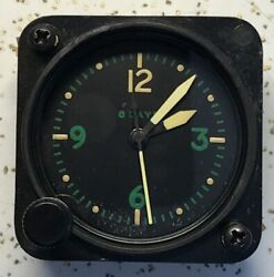 Waltham Us Navy 22809 9j A-11 Aircraft Clock Yellow Hands Green Numbers
