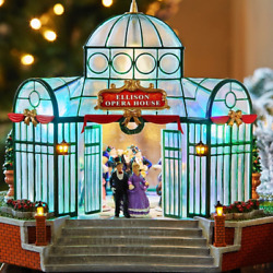 Led Christmas Village Opera House - Lighted Animated And Plays Music - 11h X10w