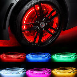 17 Led Wheel Ring Light Rgb Color Changing Single Row Wheel Well Kits For Cars