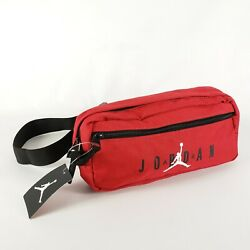 Nike Air Jordan Jumpman Red Cross Body Fanny Pack Shoulder Waist Bag Adjustable $29.90