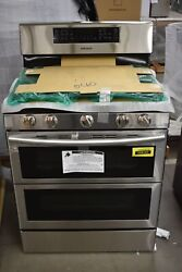 Samsung Nx58k7850ss 30 Stainless Freestanding Double Oven Gas Range Nob 104141
