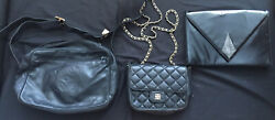 Lot Of 3 Vintage Bags GIVENCHY Quilted Crossbody LOEWE Messenger BALLY Clutch. $275.00