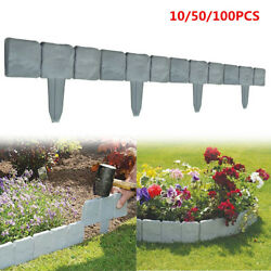 Home Garden Border Edging Plactic Fence Stone Lawn Yard Flower Bed Decor