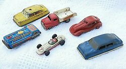 Vintage Mixed Japan Tin Toys Lot Of 4, Friction Marked