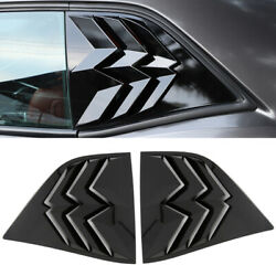 Black Rear Window Louver Shutter Cover Accessories For Dodge Challenger 2010-19