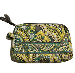 Vera Bradley Small Cosmetic Make Up Bag Pouch Retired Lemon Parfait Lined $8.00