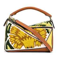Loewe Yellow Floral Puzzle Leather Bag 303.30.s21.8100