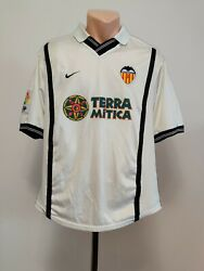 Football Shirt Soccer Fc Valencia Home 2000/2001 Nike Jersey Spain White Menand039s M