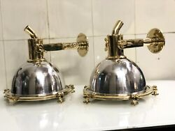 Nautical Aluminum And Brass Smooth Cargo Hanging Pendant Ceiling Light New 10piece