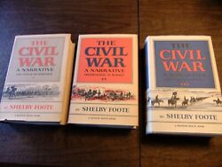 The Civil War By Shelby Foote Complete First Edition First Printing Set