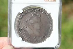 Anna Ioannovna 1732 Russian Silver One Rouble Ngc Certified Coin