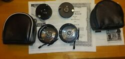 Vintage Rogue 200 Fly Fishing Trolling Fishing Reels W/ Cases X 2 Usa Made Don