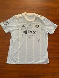 Authentic New 2016 Mls Autographed Sporting Kansas City Adidas Jersey With Tags