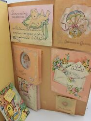 Vintage 1930s-50and039s Scrapbook 63 Kids Birthday Cards
