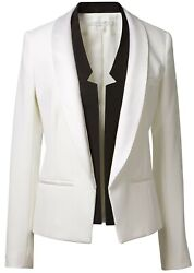Veronica Beard Womenand039s Designer Cream Suit Jacket With Black Accents Uk6
