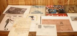 Vintage Lot Paper Epherma Late 1800's To Now