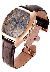 New Mens 18922 Reserve Tonneau Swiss Made Automatic Sw500 Leather Watch