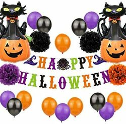 Set Of 20 Cat Halloween Home Decor Haunted House Decorations Fall Halloween Par
