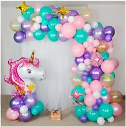 Shimmer And Confetti Premium 16 Foot Diy Pearlized And Metallic Unicorn Balloon