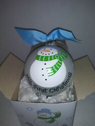 Coton Colors Baby Ornaments My First Christmas Glass Ornament - 4w - New In Box