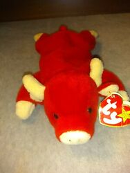 Ultra Rare Beanie Baby Snort The Bull Vintage 1995 In Good Condition.