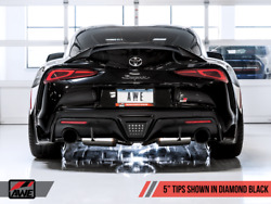Awe 2020 Toyota Supra A90 Resonated Touring Edition Exhaust - 5in Diamond Black