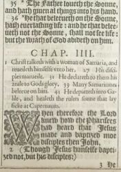1611 King James Bible Leaf John 316 For God So Loved The World - And039sheand039 1st Ed.