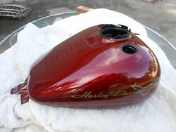Harley Davidson Touring Red Hot Sunglo Gas Tank, Sender, Pump, Top Plate, More