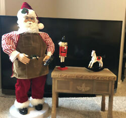 Rare Singing Dancing Santa Workbench Toys Animated Enchanted Forest 40andrdquo Motion